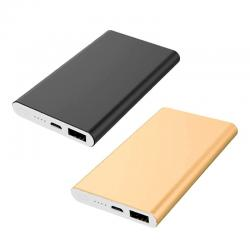 Carregador Power Bank Slim Metal 5000mAh Personalizado