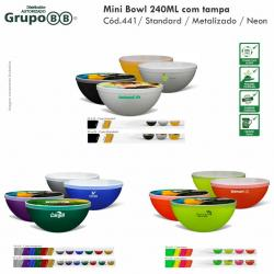Mini Bowl 240ml com tampa Personalizado