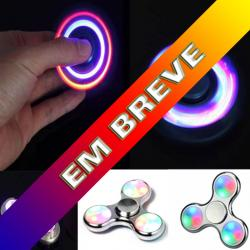 SPINNER PLÁSTICO CROMADO ANTI STRESS LED